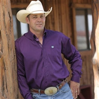 Mens Cinch® Long Sleeve Purple Shirt