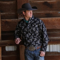 Mens Cinch® Long Sleeve Prairie Print Shirt