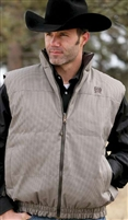 Mens Cinch® Reversible Down Vest - Tan/Brown