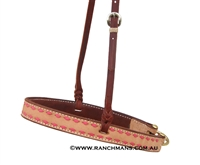 Ranchman's Pink Buckstitch Tie Down Noseband