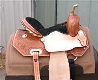 "SRS® 14"" Barrel Racer Saddle w/Black Suede Seat"