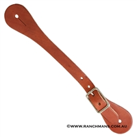 Ranchman's Adult Leather Single Ply Western Spur Straps