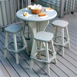 LEISURE ACCENTS BISTRO SET WITH 2 STOOLS