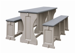 LEISURE ACCENTS PICNIC TABLE WITH BENCHES