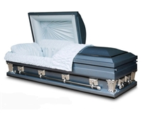 Monarch Blue Metal Casket Coffin