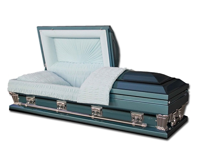 Majestic Blue Oversized Casket