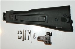 Russian Black AK polymer stock and 100 series trunnion kit