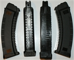 Russian AK74 60rd 5.45x39mm magazine PUFGUN, black metal reinforced.