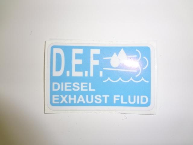 Diesel Exhaust Fluid >> Diesel Exhaust Fluid Decal