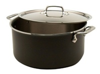 "10 1/2 x 5 5/16"" 8QT All-Clad® LTD Stock Pot w/Lid, cookware made in USA"
