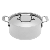 8 x 3 9/16 3 QT All-Clad® Stainless Casserole With Lid, cookware made in USA