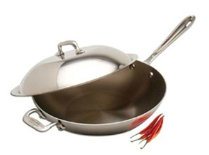 "12 x 3"" 4QT All-Clad® Stainless Chef's Pan with Lid, cookware made in USA"