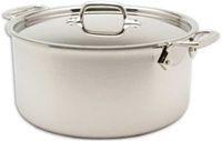 "10 1/2 x 5 1/16"" 8QT All-Clad® Stainless Stockpot with Lid, cookware made in USA"