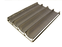 Demarle Stainless Steel Non-Stick 4 Channel Baguette Baking Tray