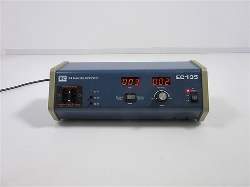 EC-135 Electrophoresis Power Supply includes 90 day warranty