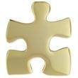 Gold Plated Puzzle Pin