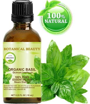 Botanical Beauty ORGANIC BASIL ESSENTIAL OIL.