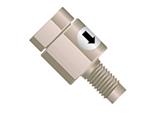 PTFE and Polypropylene with Filter and Viton Check Element Vaplock DV-115 VAPCHECK Inlet Check Valve 0.07 psi Crack Pressure