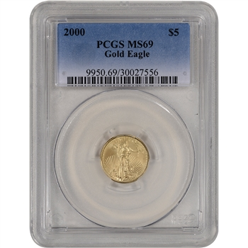 2000 American Gold Eagle (1/10 oz) $5 - PCGS MS69