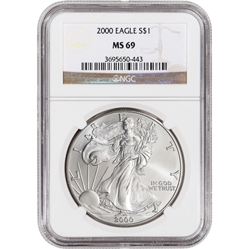 2000 American Silver Eagle - NGC MS69
