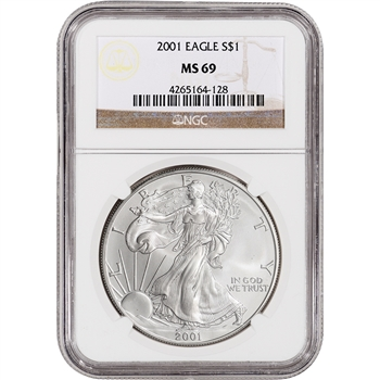 2001 American Silver Eagle - NGC MS69