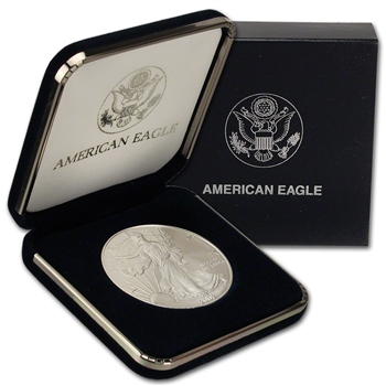 2002 American Silver Eagle in U.S. Mint Gift Box