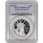 2002-W American Platinum Eagle Proof 1 oz $100 - PCGS PR69 DCAM