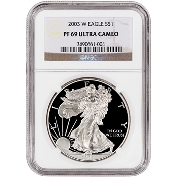 2003-W American Silver Eagle Proof - NGC PF69UCAM