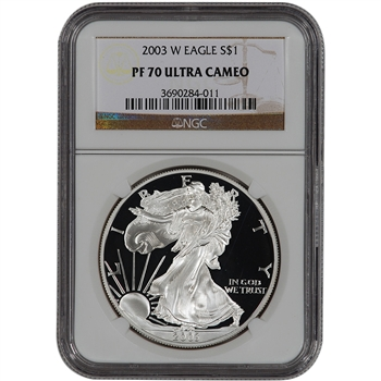 2003-W American Silver Eagle Proof - NGC PF70UCAM