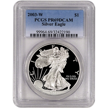 2003-W American Silver Eagle Proof - PCGS PR69DCAM