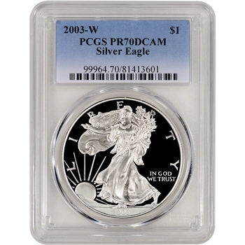 2003-W American Silver Eagle Proof - PCGS PR70DCAM