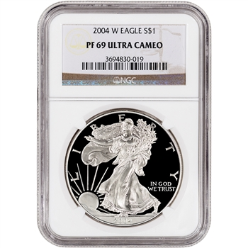 2004-W American Silver Eagle Proof - NGC PF69UCAM