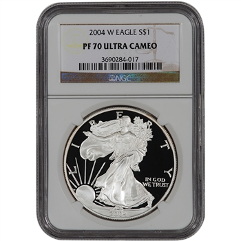 2004-W American Silver Eagle Proof - NGC PF70UCAM