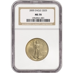 2005 American Gold Eagle (1/2 oz) $25 - NGC MS70 - Non Edge-View Holder