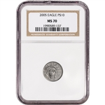 2005 American Platinum Eagle (1/10 oz) $10 - NGC MS70