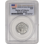 2005 American Platinum Eagle (1/4 oz) $25 - PCGS MS69