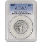 2005 American Platinum Eagle (1/2 oz) $50 - PCGS MS70