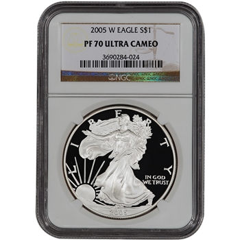 2005-W American Silver Eagle Proof - NGC PF70UCAM