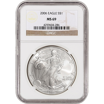 2006 American Silver Eagle - NGC MS69