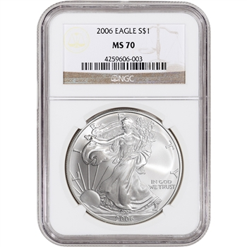 2006 American Silver Eagle - NGC MS70