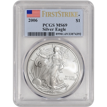 2006 American Silver Eagle - PCGS MS69 - First Strike