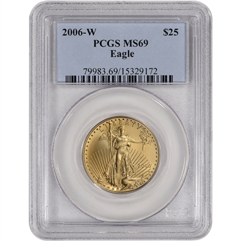 2006-W American Gold Eagle (1/2 oz) $25 - Burnished - PCGS MS69