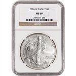 2006-W American Silver Eagle - Uncirculated Collectors Burnished - NGC MS69