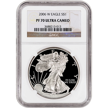2006-W American Silver Eagle Proof - NGC PF70UCAM