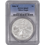 2006-W American Silver Eagle Uncirculated Collectors Burnished - PCGS MS69