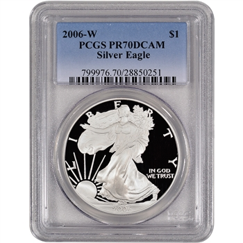 2006-W American Silver Eagle Proof - PCGS PR70DCAM