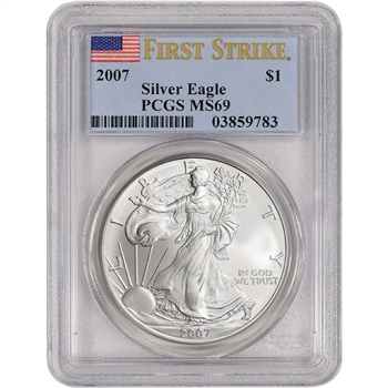 2007 American Silver Eagle - PCGS MS69 - First Strike