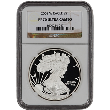 2008-W American Silver Eagle Proof - NGC PF70UCAM