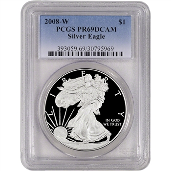 2008-W American Silver Eagle Proof - PCGS PR69DCAM