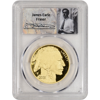 2008-W American Gold Buffalo Proof (1 oz) $50 - PCGS PR70 DCAM - Fraser Label